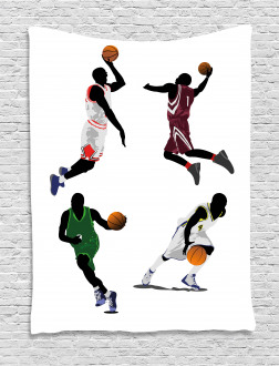 Basketball Players Sport Tapestry