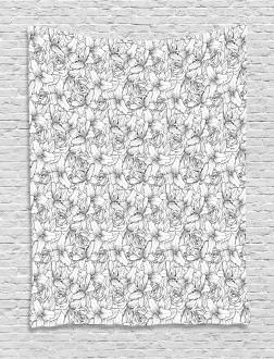 Botanical Poppy Icon Tapestry