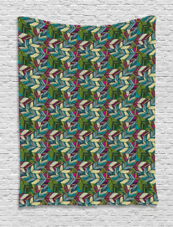 Exotic Feather Pattern Tapestry