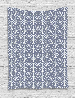 Nautical Wave Pattern Tapestry
