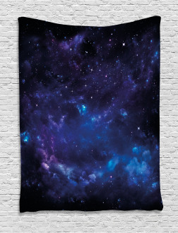 Space Illustration Galaxy Tapestry