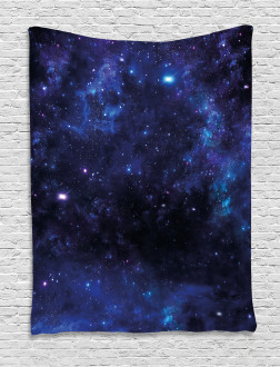 Abstract Stars and Nebula Tapestry