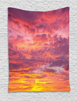 Sunset Clouded Weather Tapestry