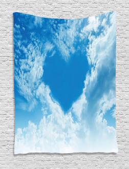 Heart Shaped Love Theme Tapestry