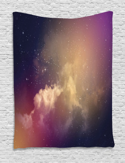 Night Clouds Stars Image Tapestry