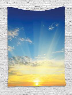 Sun Rays Above Horizon Tapestry