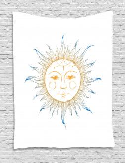 Ornate Aztec Star Motif Tapestry