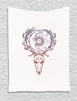 Tattoo Style Ornate Doodle Tapestry