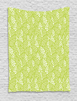Abstract Ornamental Leaf Tapestry