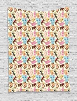 Cute Mascots Joy Tapestry