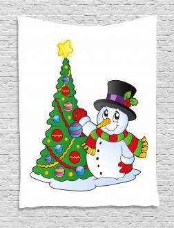 Lovely Xmas Tree Winter Tapestry