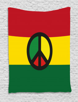 Reggae Culture Peace Tapestry