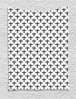 Black Royal Lily Tapestry