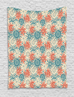 Hippie Floral Art Tapestry