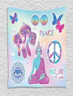 Psychedelic Eye Mandala Tapestry