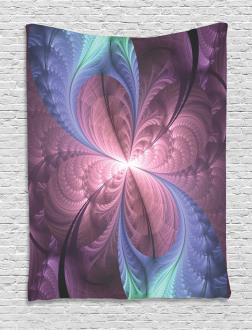 Floral Vortex Design Tapestry