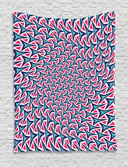 Retro Hipster Abstract Tapestry