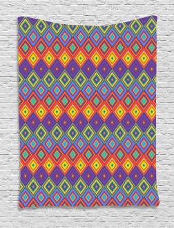 Hippie Vibrant Retro Tapestry