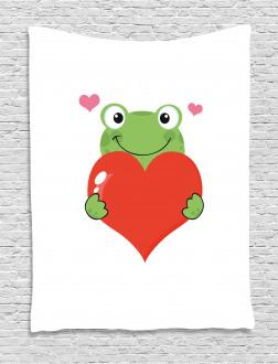 Cute Funny Cartoon Frog Tapestry