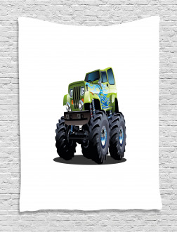Monster Truck Off Road Tapestry
