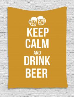 Drink Beer Retro Pub Tapestry