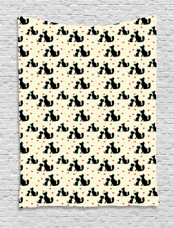 Dog Cat Pet Love Tapestry