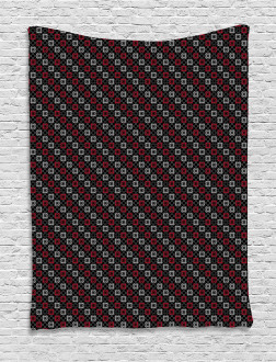 Stylized Square Shape Tapestry