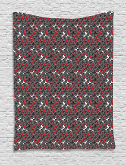 Abstract Artsy Motif Tapestry