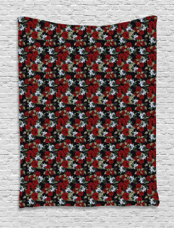 Red Rose Bouquets Tapestry