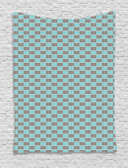 Bicolor Checkered Retro Tapestry