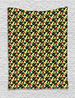 Triangles Futuristic Tapestry