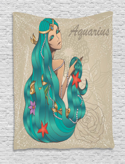 Lady Pearl Fish Tapestry