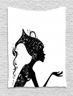 Ethnic Woman Tapestry