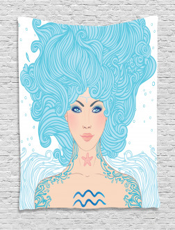 Blue Woman Tapestry