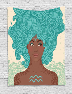 African Lady Tapestry