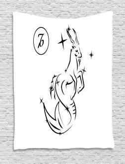 Sketch Goat Tapestry