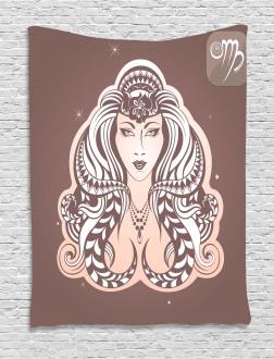 Tribal Woman Art Tapestry
