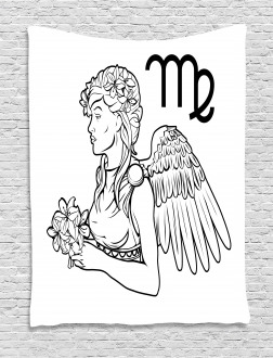 Angel with Bouquet Tapestry