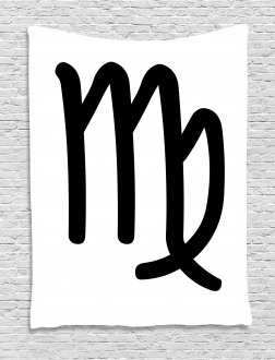 Monochrome Sign Tapestry