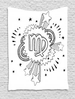 Doodle Pop Art Tapestry