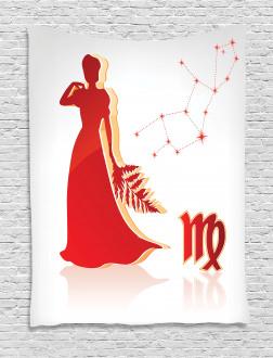 Vibrant Lady Stars Tapestry