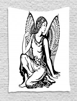 Young Angel Tattoo Tapestry