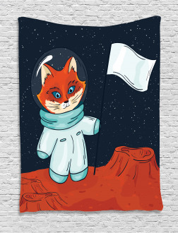 Fox Cosmonaut Space Tapestry