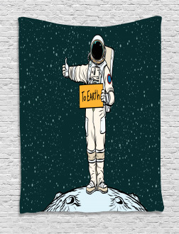 Hitchhiking Astronaut Tapestry