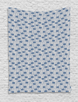 Messy Waves Triangles Tapestry
