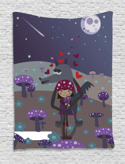 Red Riding Hood and Wolf Tapestry