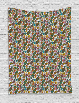 Retro Paisley Colorful Tapestry