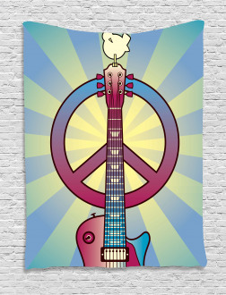 Woodstock Music Theme Tapestry