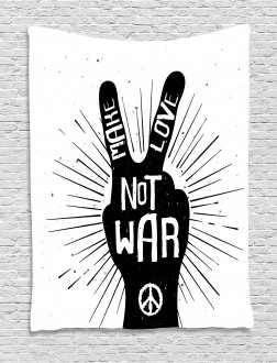 Sixties Pacifist Slogan Tapestry