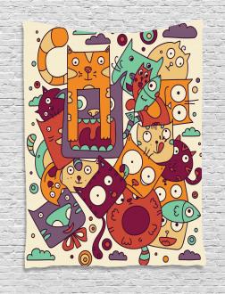 Absurd Doodle Tapestry